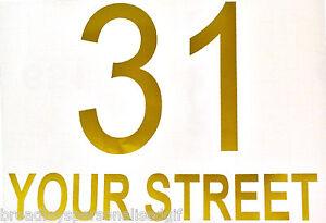 personalised Cut Vinyl Number and Street name