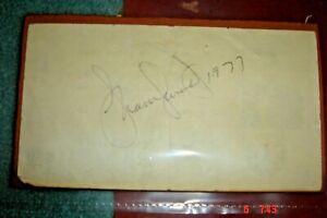 JSA COA 1977 Frank Sinatra Jr. Autograph on Back Of Ticket / El Centro HS CA