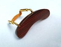 Mandolin Armrest Rosewood wood with Golden color U clamp hardware