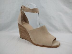 Vince Camuto Deedriana Beige Ankle Strap Wedge Sandals Women's Size 12 M US
