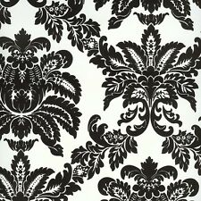 BC1580982, DS106622 Black and White Damask Wallpaper