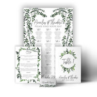 Personalised Wedding Sign Seating Plan Botanical Vintage Garden Canvas Print