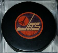 1979-83 WINNIPEG JETS  VINTAGE NHL VICEROY CANADA OFFICIAL GAME USED PUCK