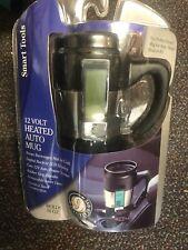 New 12 Volt Heated Auto Coffee Mug 16oz Stainless steel Smart Tools Led Car