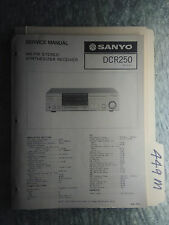 Sanyo dcr250 service manual original repair book stereo receiver tuner radio