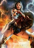 WONDER WOMAN POSTER DC Marvel Movie Wall Art Photo Pic Poster A4 A3