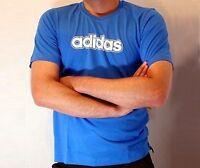 Adidas LINEAR Tee blau Herren Basic T-Shirt Baumwolle Original Gr. S M NEU