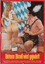 Filmplakat Unterm Dirndl wird gejodelt 1973 Alois Brummer Monika Rohde Motiv rot