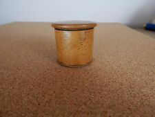 Victorian Treen Small Pot with Screw on Lid 4cm dia 4cm tall