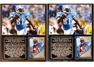 Calvin Johnson #81 Detroit Lions 2007-2015 Photo Card Plaque Retired