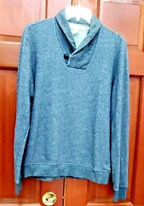 H&M sweater, sweatshirt, cotton blend. Pre-owned. Size S. Shawl neck.