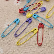 20 x Coloured Safety Pins Stitch Markers For DIY Findings Jewelry Making Decor