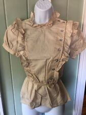 Twelfth Street By Cynthia Vincent Ivory Gibson Girl Victorian Blouse Sz 0 $279