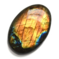 Cts. 46.85 Natural Oval Fine Orange Fire Labradorite Cabochon Loose Cab Gemstone
