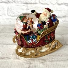 Rocking Santa Sleigh Mini Snow Water Globe Kirkland Signature Christmas