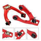 Red Jdm 96-00 Civic Ek Em1 Front Upper Adjustable A-arm Control Camber Kit Pair
