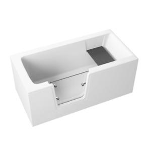 Badewanne für barrierefreies Bad mit Tür links, abnehmbarer Sitzbank VOVO 140 cm