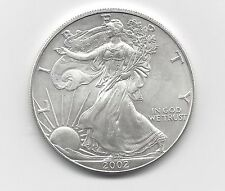 2002 - 1 oz American Silver Eagle Coin - One Troy oz .999 Bullion