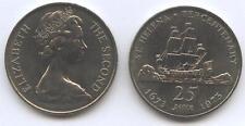 25 Pence  300 Jahre ST. HELENA Cu-Ni 1973 KM#5 unc.