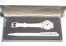 Pentel Clicroller Rollerball Pen and Watch Gift Set - Clic Roller - White/Red