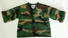 Mullins Square Newborn Baby Boy S Small 0-12 lb Fleece Camouflage Jacket Usa 0 3