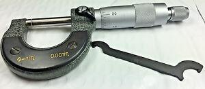 "Outside Micrometer 0-1""/0.0001"" Premium Precision Carbide Tips Machinist Tool"