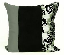 """CUSHIONS CUSHIONS COVERS FLOCK DAMASK CUSHION COVERS OR FILLED CUSHION  18""""X 18"""""""
