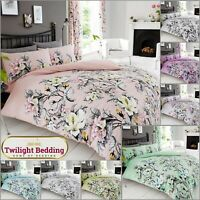 EDEN DUVET COVER PILLOW CASE Floral Bedding Set Ultra Soft Quilt Covers