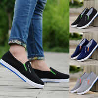 Fashion Mens Slip On Casual Loafers Jogging Driving Shoes Canvas Moccasin Flats