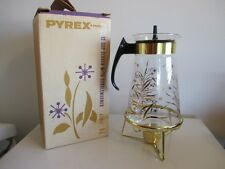 VTG NEW NOS Gold Pyrex Corning COFFEE WARMER 12 Cup Atomic Mid Century Modern