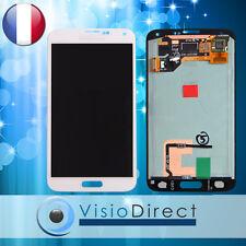 Ecran complet pour Samsung Galaxy S5 i9600 G900F blanc vitre tactile + écran LCD