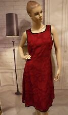 NEW Burgundy Wine Lace Cocktail Wedding Floral Overlay Dress Sz Small