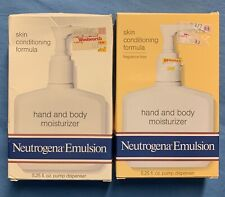 X2 Neutrogena Emulsion Hand & Body Lotion New 5.25 oz each