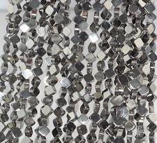 "6X6MM GREY HEMATITE GEMSTONE DIAMOND SQUARE 6X6MM LOOSE BEADS 16"""