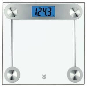 WW Scales Digital Glass Bathroom Scale, 400 Lbs. Capacity