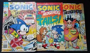 Archie Comics Sonic the Hedgehog Three Comic Lot #6 #14 #15 See Photos