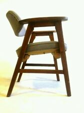 +4 Vintage Gunlocke MidCentury Danish Clam Chair Office Cantilever Atomic Dining