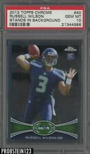 2012 Topps Chrome Russell Wilson RC Rookie Stands In Background PSA 10