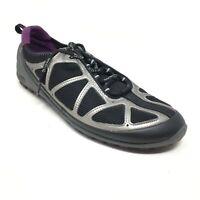 Women's Ecco Biom Training Shoes Sneaker Size 40 EU/9-9.5 US Black Silver Purple