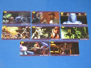 2009 STAR WARS THE CLONE WARS WIDEVISION TOPPS PREVIEW INSERT 8 CARD SET!