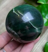 "51mm DARK GREEN AVENTURINE Sphere Crystal Reiki Charged ""Prosperity"" *Read Below"