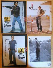 LEVI'S 501 Levi Strauss 4x 2000s ADS Original magazine advertising trousers