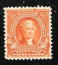 U.S. Scott 310 Jefferson orange 50c MNH stamp