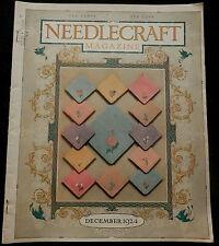 Needlecraft Magazine December 1924 FASHIONS - NEEDLEWORK - CREAM OF WHEAT more