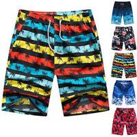 Mens Quick Dry Swimwear Summer Beach Sports Shorts Surf Board Pants Swimming