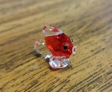 Genuine Iris Arc Crystal Miniature Goldfish, Vintage, Mint, Logo