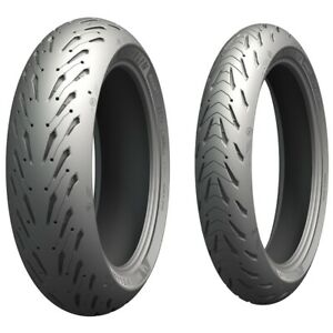 Michelin Road 5 Front Rear Tyre Combo 120/70-17 180/55-17 Motorcycle Tyres