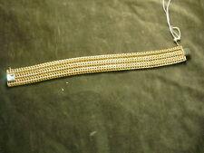 7 1/2 Inches-Width 3/4 Inch Italian 14k Yellow Gold Mesh Italian Bracelet-Length