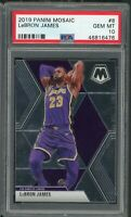 LeBron James Los Angeles Lakers 2019 Panini Mosaic Basketball Card #8 PSA 10 GEM