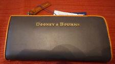 Dooney & Bourke Charcoal & brown  Leather Zip Clutch Wallet
